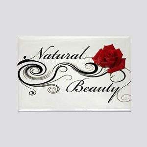 Natural Beauty Rose Rectangle Magnet
